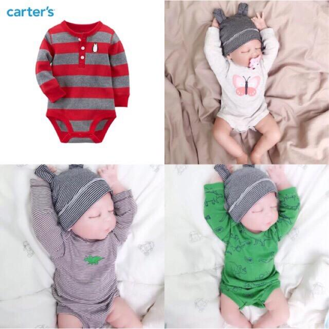 7f0480d2869a BRANDED or CARTER S boys long sleeve onesie romper sold by each