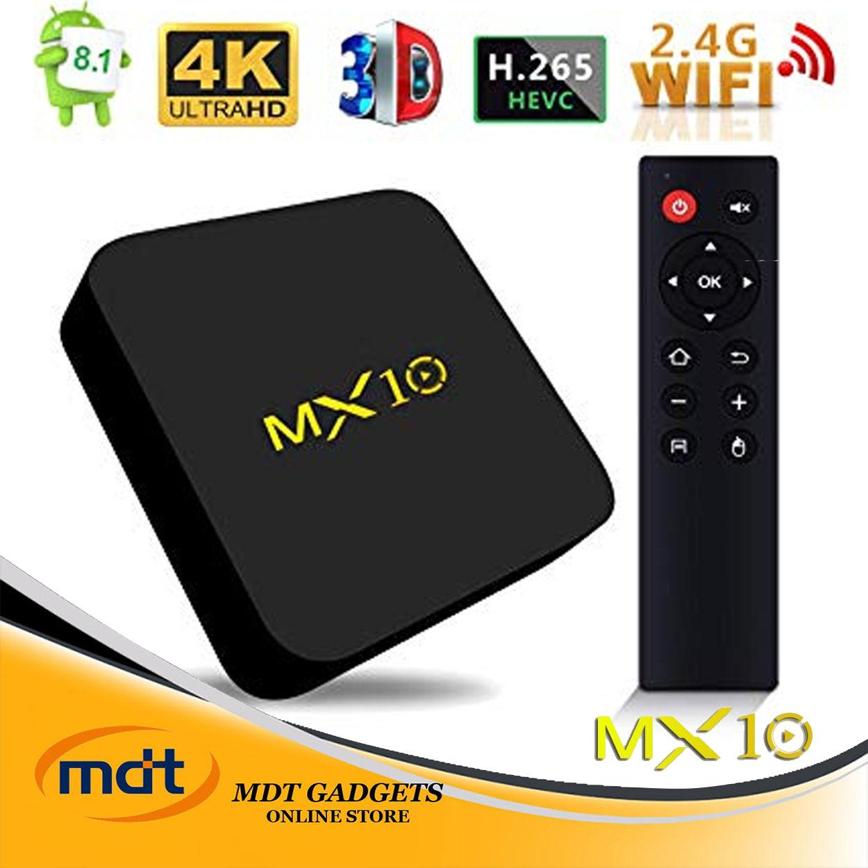 New Upgrade MX10 Android 8.1 TV Box, Android TV Box With 4GB RAM 32/