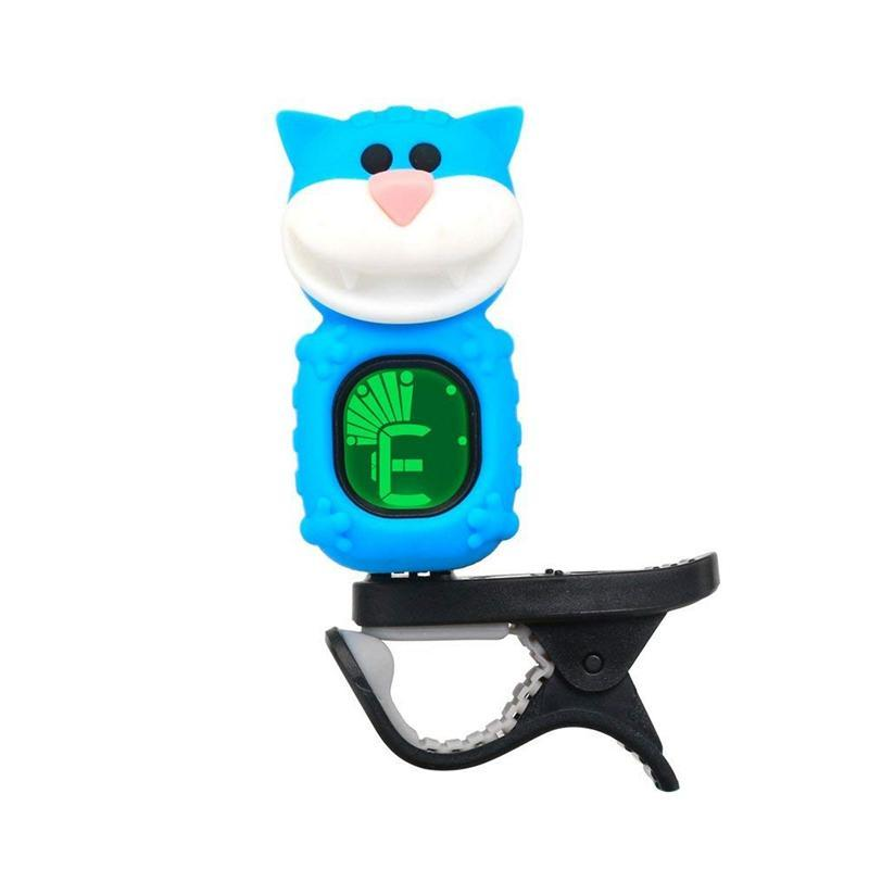 SWIFF Guitar Tuner Clip-On Cartoon Cat with LCD Display for All Instruments with Bass, Ukulele,Violin Accessories