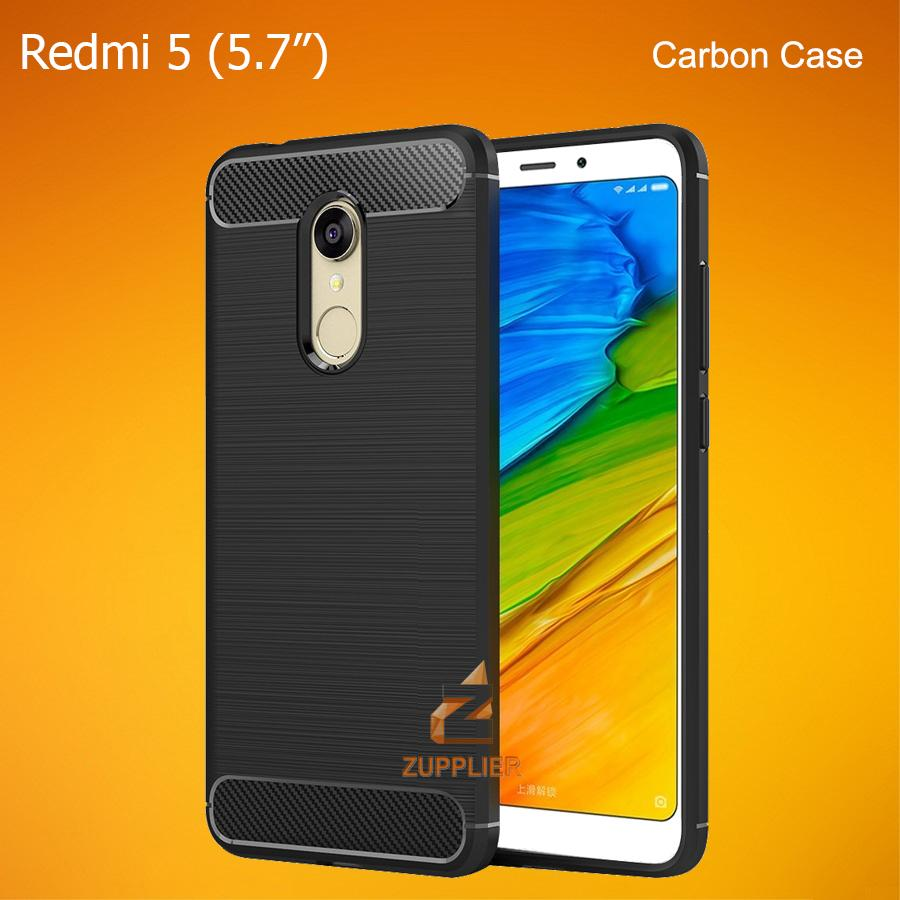 Xiaomi Redmi 5 Premium Carbon Fiber Brushed Soft TPU Case