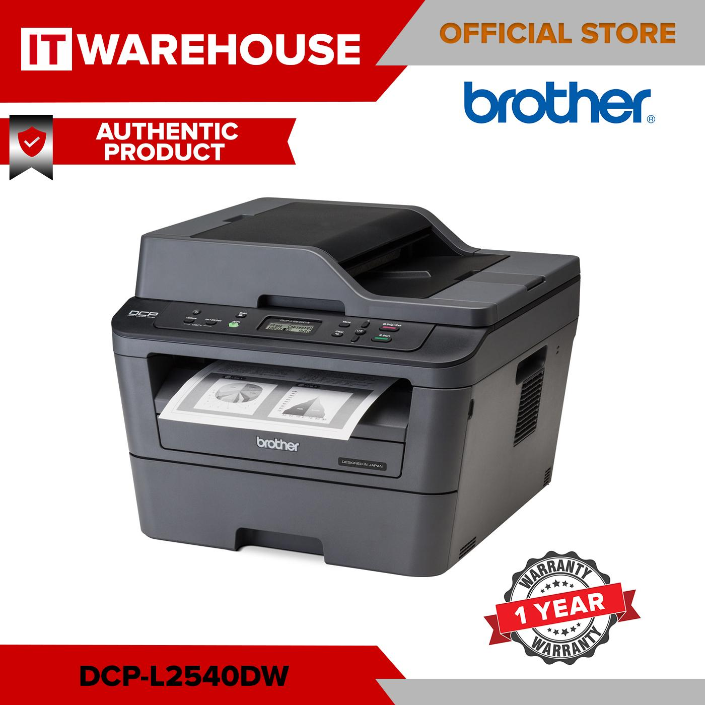 Brother DCP L2540DW 3 in 1 Monochrome Laser Printer with 2 sided Printing  and Wireless Networking Brother DCP-L2540DW