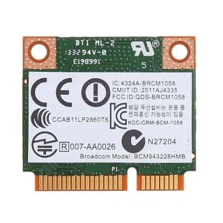 Dual Band 2.4+5G 300M 802.11A B G N Wifi Bluetooth 4.0 Wireless Half Mini Pci-E Card For Hp Bcm943228Hmb Sps 718451-001 thumbnail