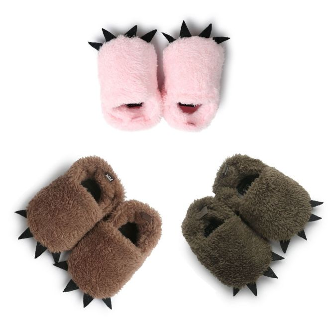 NUODS Quái Vật Dép Đi Trong Nhà, Giày Em Bé Mùa Đông Vải Nhung Lông Đế Tốt Giữ Ấm Tuyết Mới Cho Trẻ Sơ Sinh Bé Trai Nôi giá rẻ