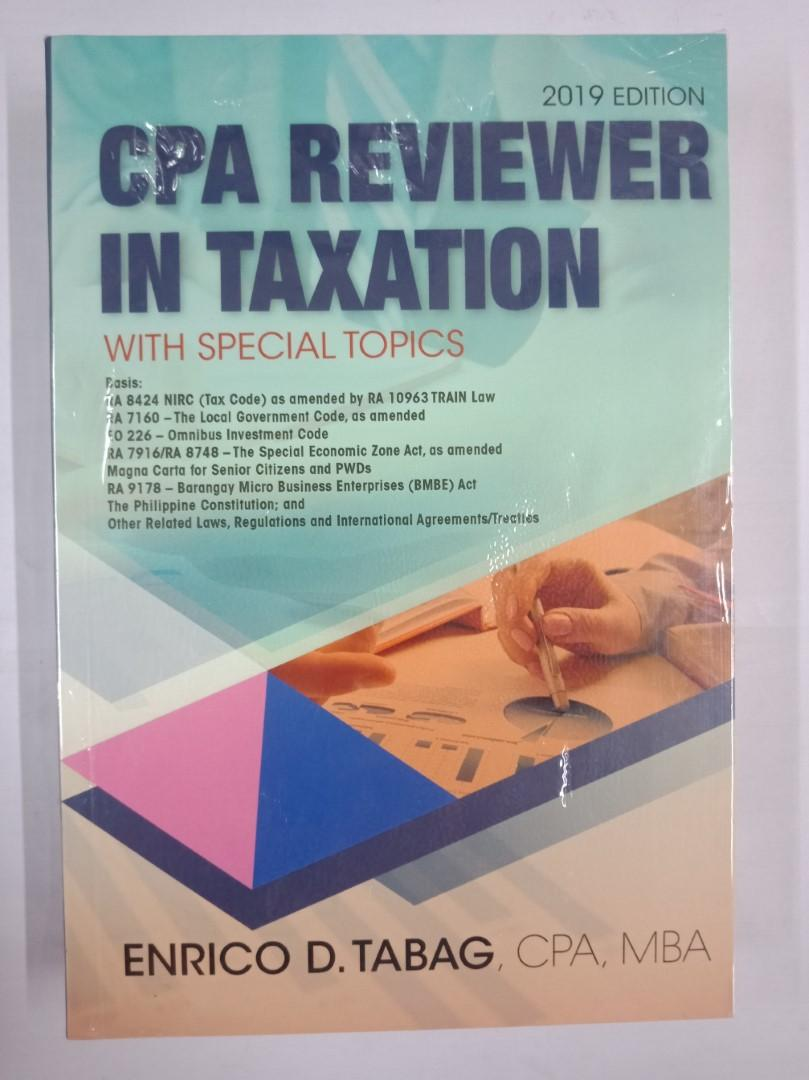 Tabag - CPA Reviewer in Taxation (with Train Law)