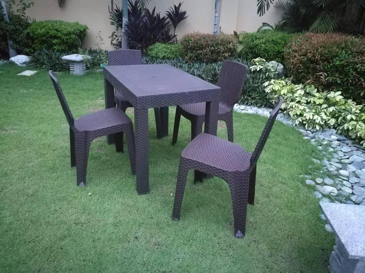 DINING TABLE RATTAN DESIGN SUNRISE 24