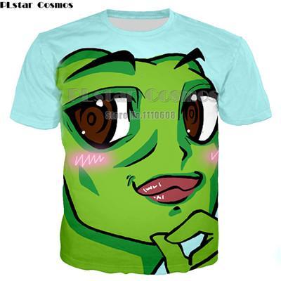829035c9ac1d Newest Naughty Frog pepe 3D T shirt women men originality lovely cartoon  shirts Hot sale Brand