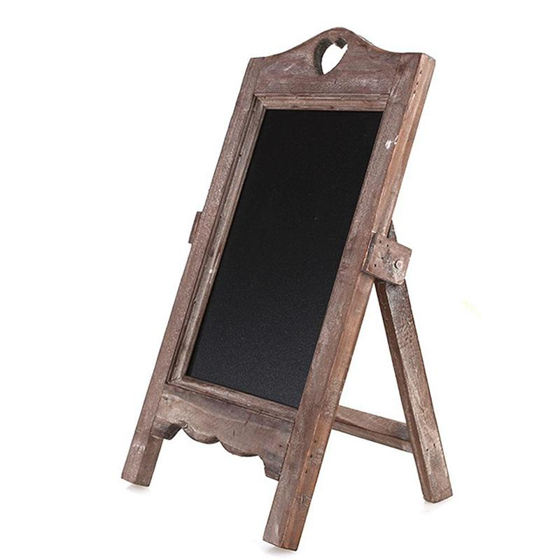 Wood Chalkboard Scaffolding Message Board Wooden Small Blackboard Restaurant Cafe Desktop Creative Multifunctional Retro Nostalgia