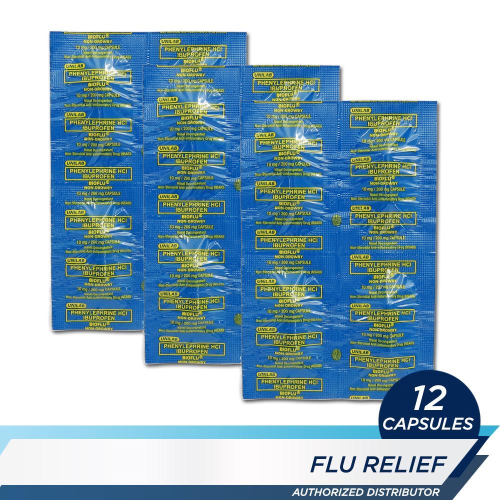Bioflu Non-Drowsy 12s By Unilab.
