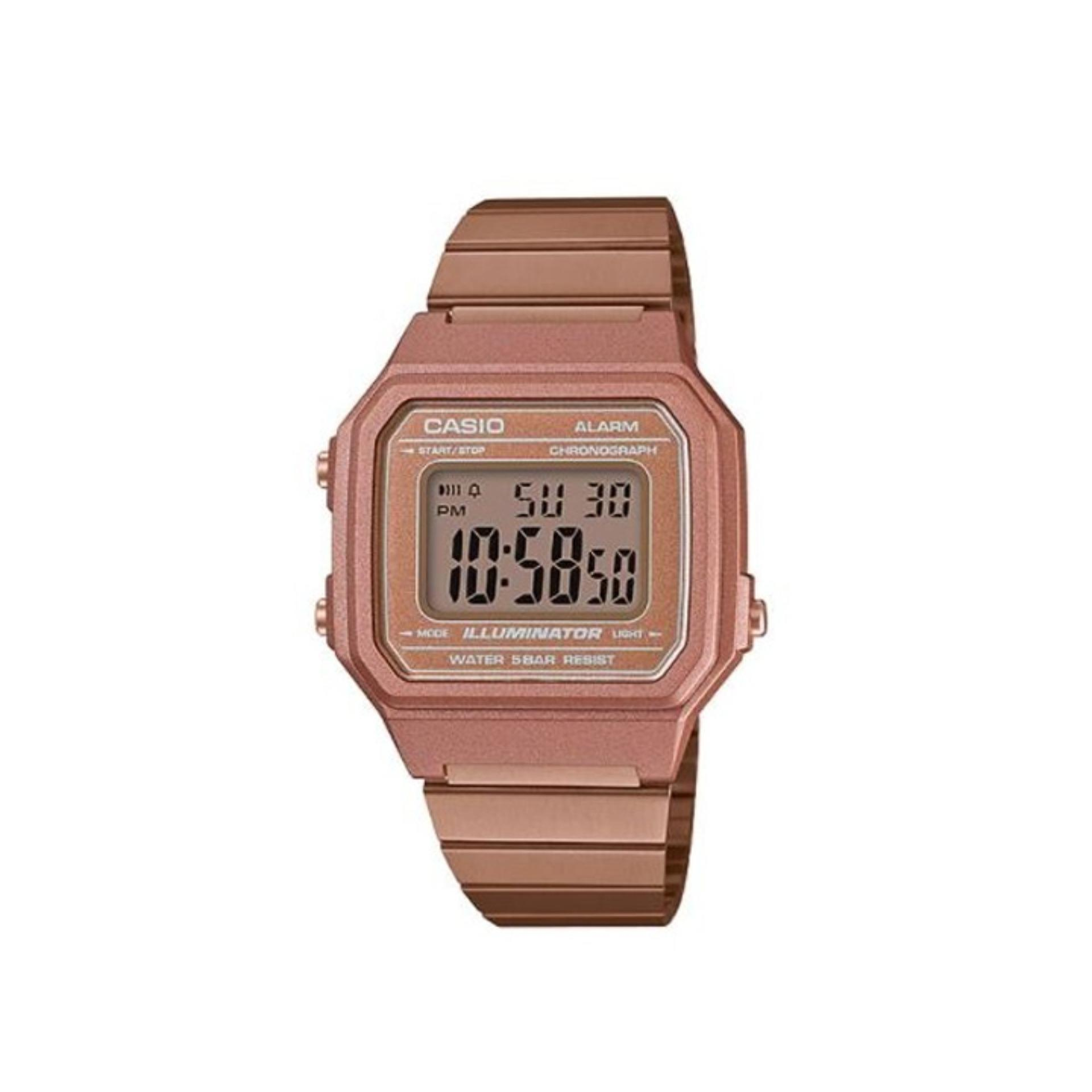Casio Digital Unisex Rose Gold Stainless Steel Strap Watch B650wc 5adf With 1 Year Warranty T1y