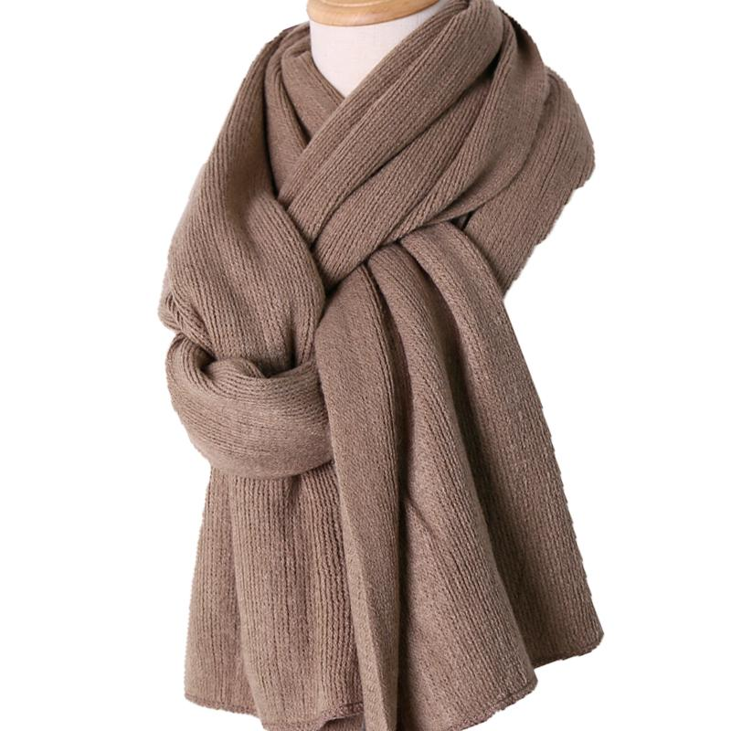89945fccf Unisex Scarves Ladies Soft Cashmere Wool Knit Warm Winter Women Men Fashion  Long Knitted Thick Scarf