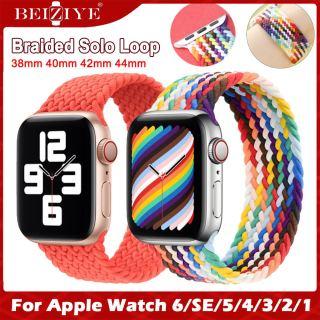 newest color Braid Solo Loop Nylon fabric Strap For Apple Watch Band 44mm 40mm 38mm 42mm Bện Solo Vòng Nylon Dây Đeo Bằng Vải Cho Vòng Đeo Đồng Hồ apple watch series 6 SE 5 4 3 2 strap thumbnail