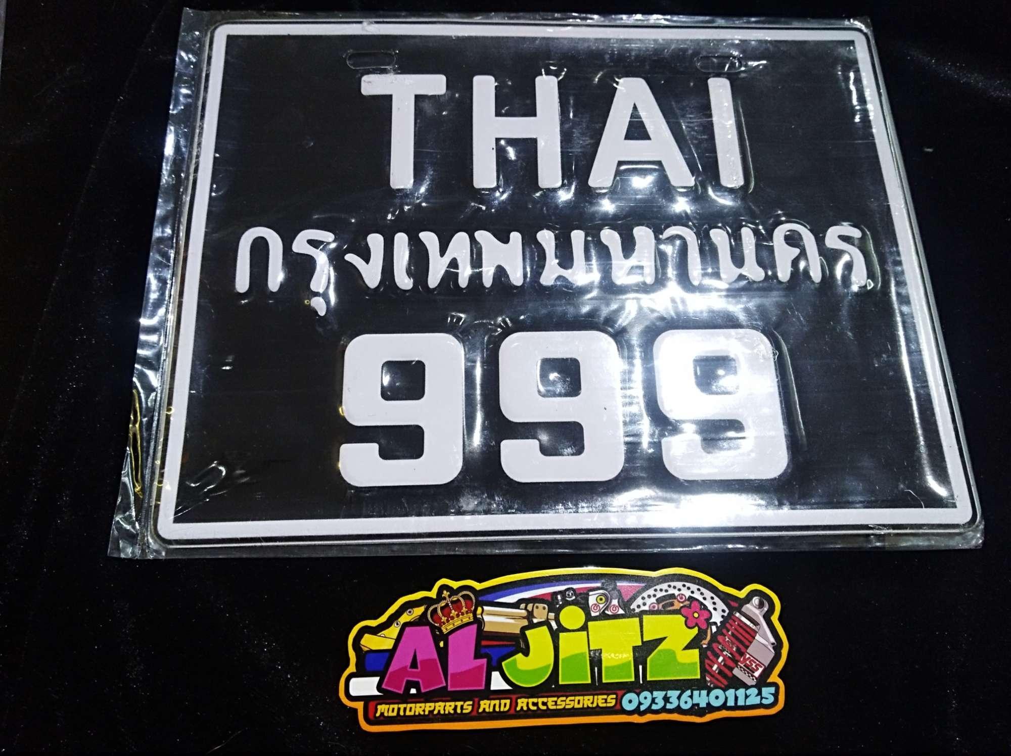 Thai Plate (black 999) By Jitz Motorcycle Shop.