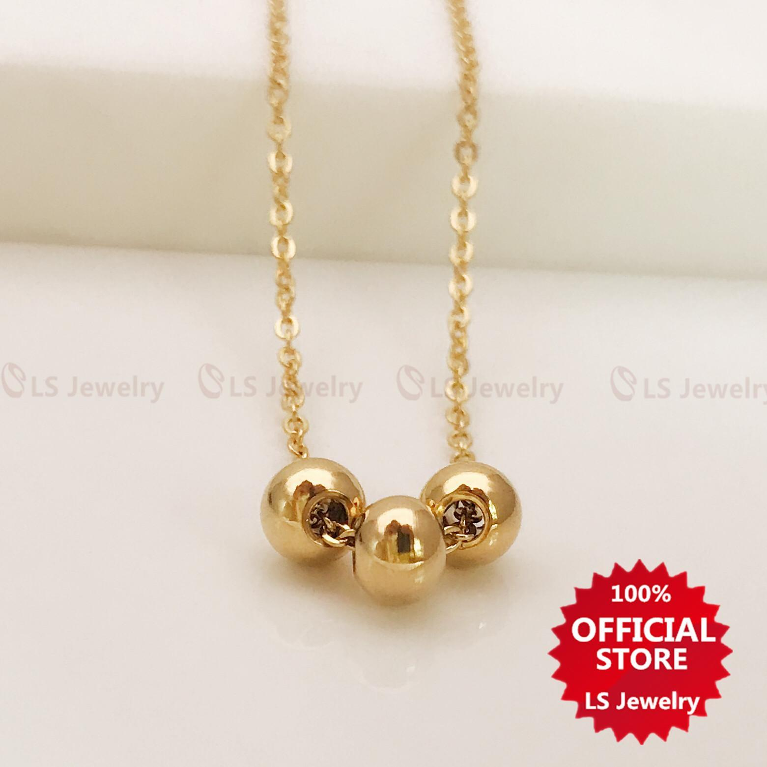 a114af339a3 LS jewelry Fashionable 14K Stainless gold plated Necklace for women N0040