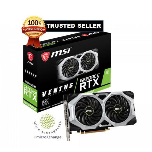 MSI GeForce RTX 2060 SUPER DirectX 12 RTX 2060 SUPER VENTUS OC 8GB 256-Bit  GDDR6 PCI Express 3 0 x16 HDCP Ready Video Card