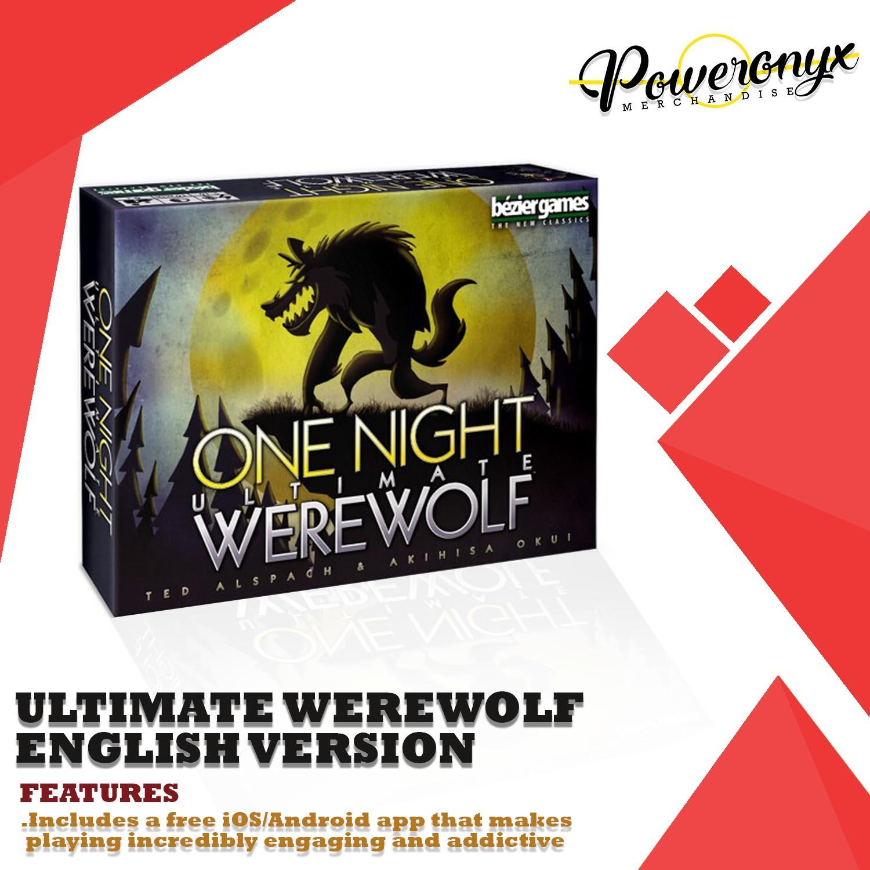 One Night Ultimate Werewolf English Version Card Game