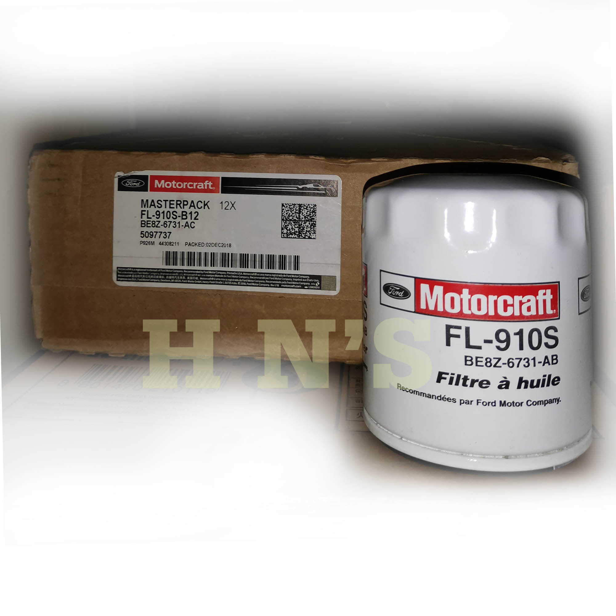 Motorcraft Oil Filter Fl 910s Suitable Or Ford Ecosport Fiesta