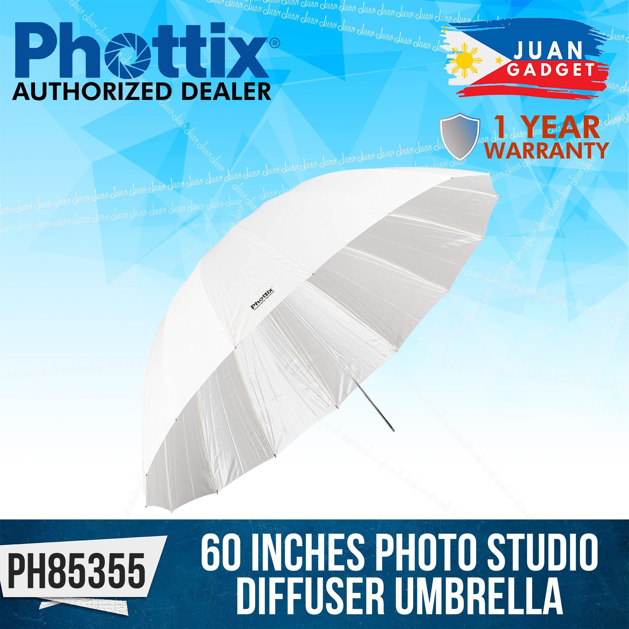 White Phottix 152 cm Photo Studio Diffuser Umbrella