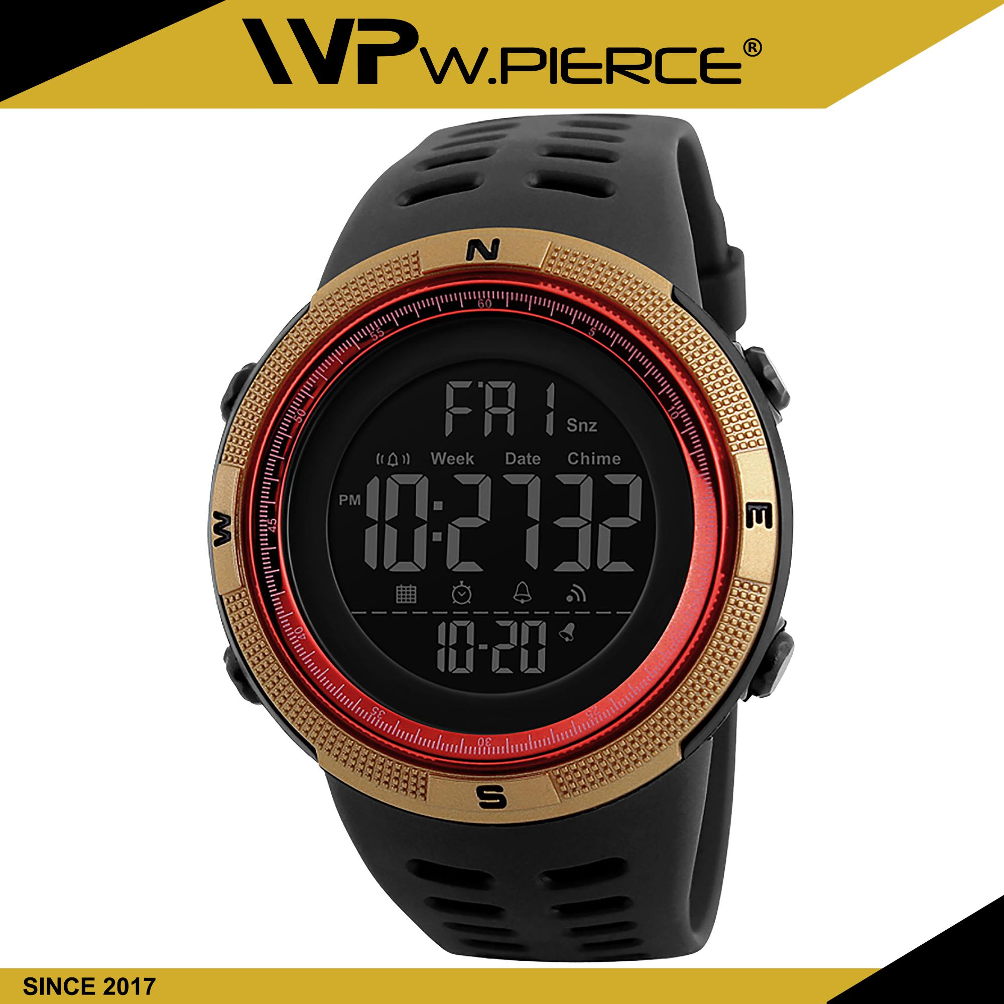 246bcd38f WPierce 1251 Men Sports Watches Countdown Double Time Watch Alarm Chrono  Digital Wristwatches 50M Waterproof Relogio