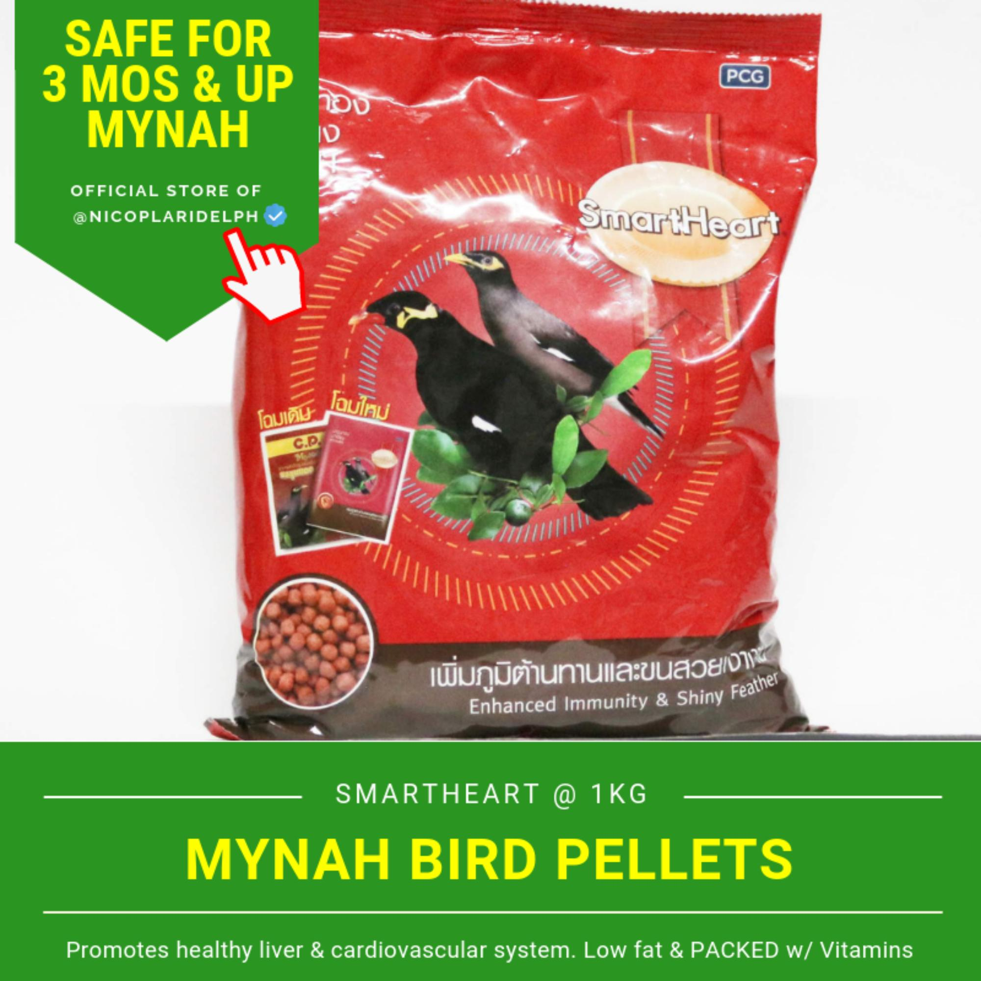 Smartheart Mynah Bird Food for Enhanced Immunity and Shiny Feathers (1kg)