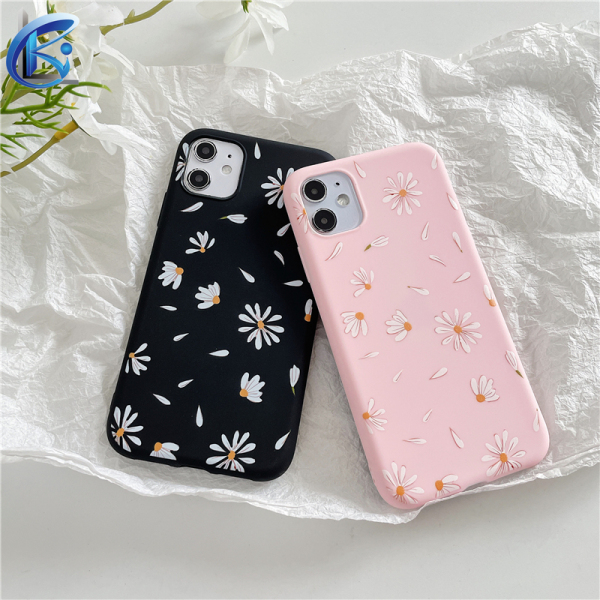 Phone Case For iPhone 6 6s 7 8 Plus X XR XS 11 Pro MAX Fashion Flower Silicone Shockproof Cover