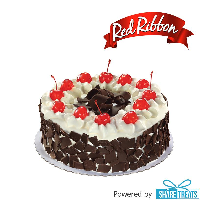 Red Ribbon Black Forest Cake Reg (sms Evoucher) By Share Treats.