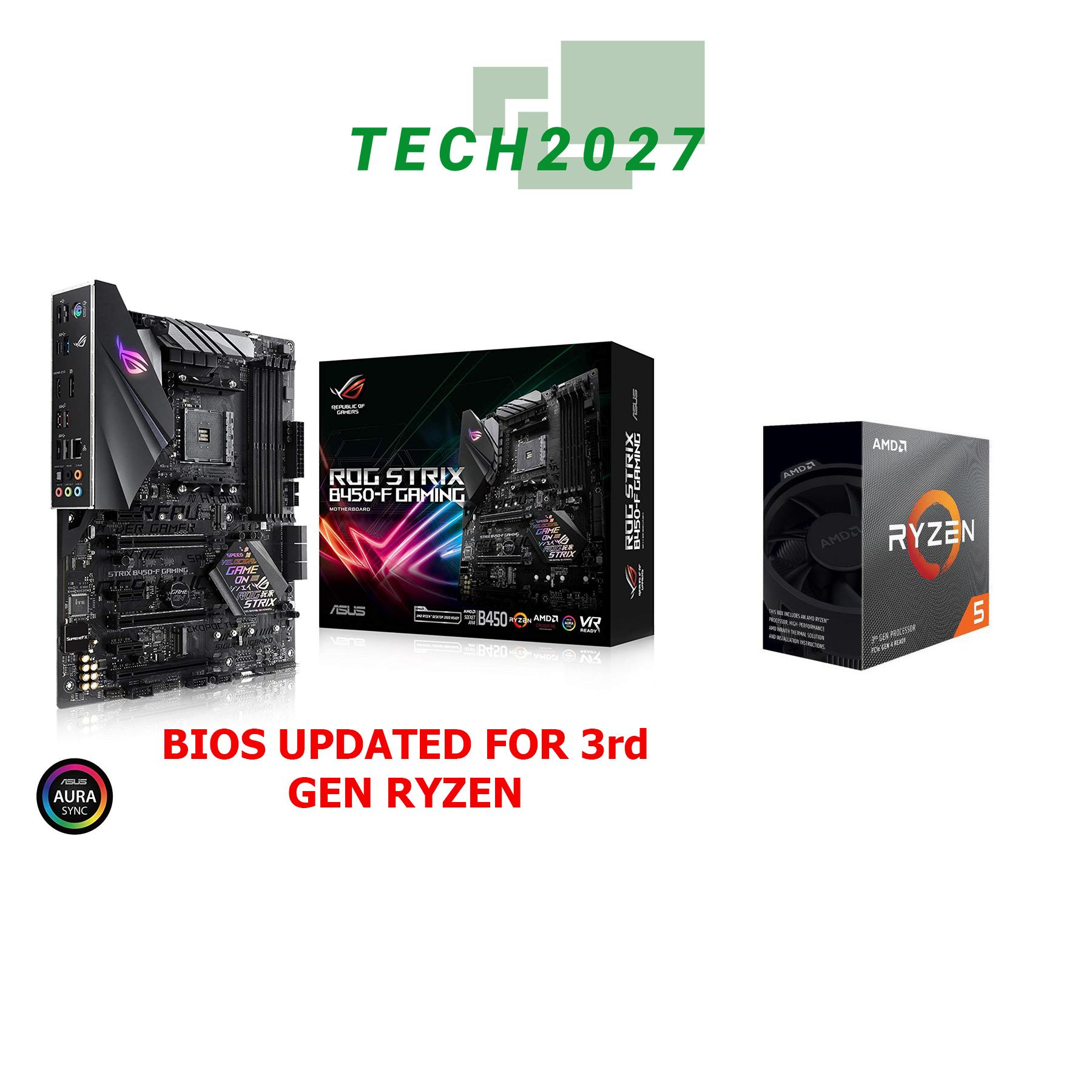 AMD RYZEN 5 3600 6-Core 3 6 GHz PROCESSOR WITH ASUS ROG STRIX B450-F GAMING  motherboard