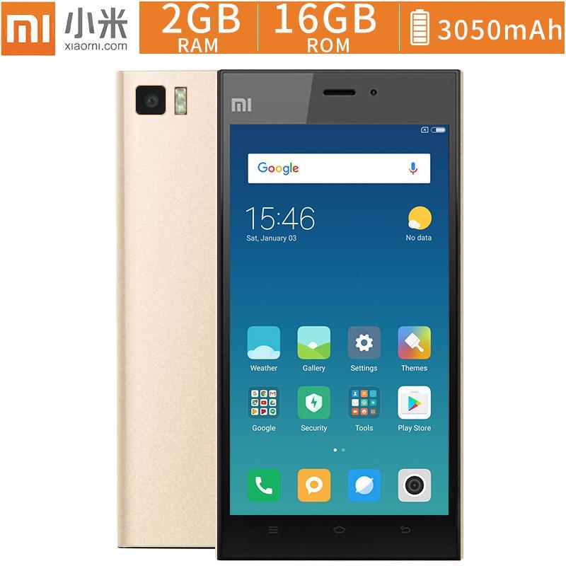 XiaoMi RedMi 3 Quad Core 5 Inch Dual Mobile Phone 5M+13M Camera Smartphone  2G/16G 3G Cellphone