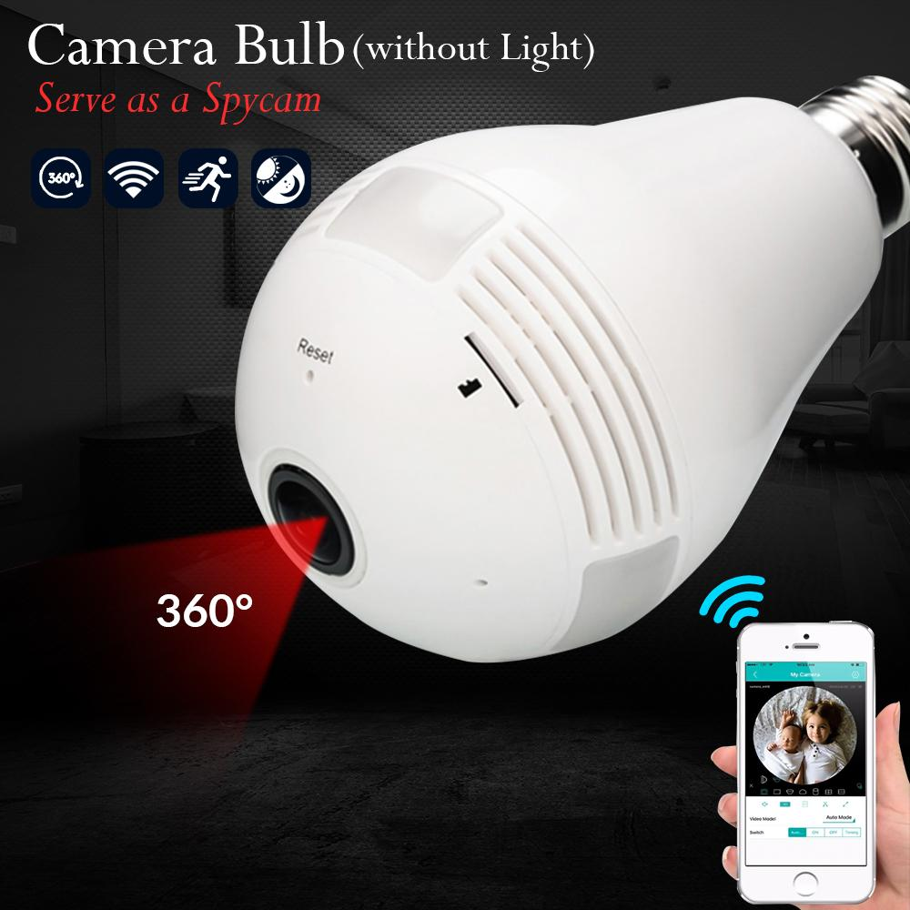 Unnoticeable Camera Bulb Spycam Without Light Wifi Panoramic Fisheye 360 Hd Wireless Ipcam By Wanling Trading.