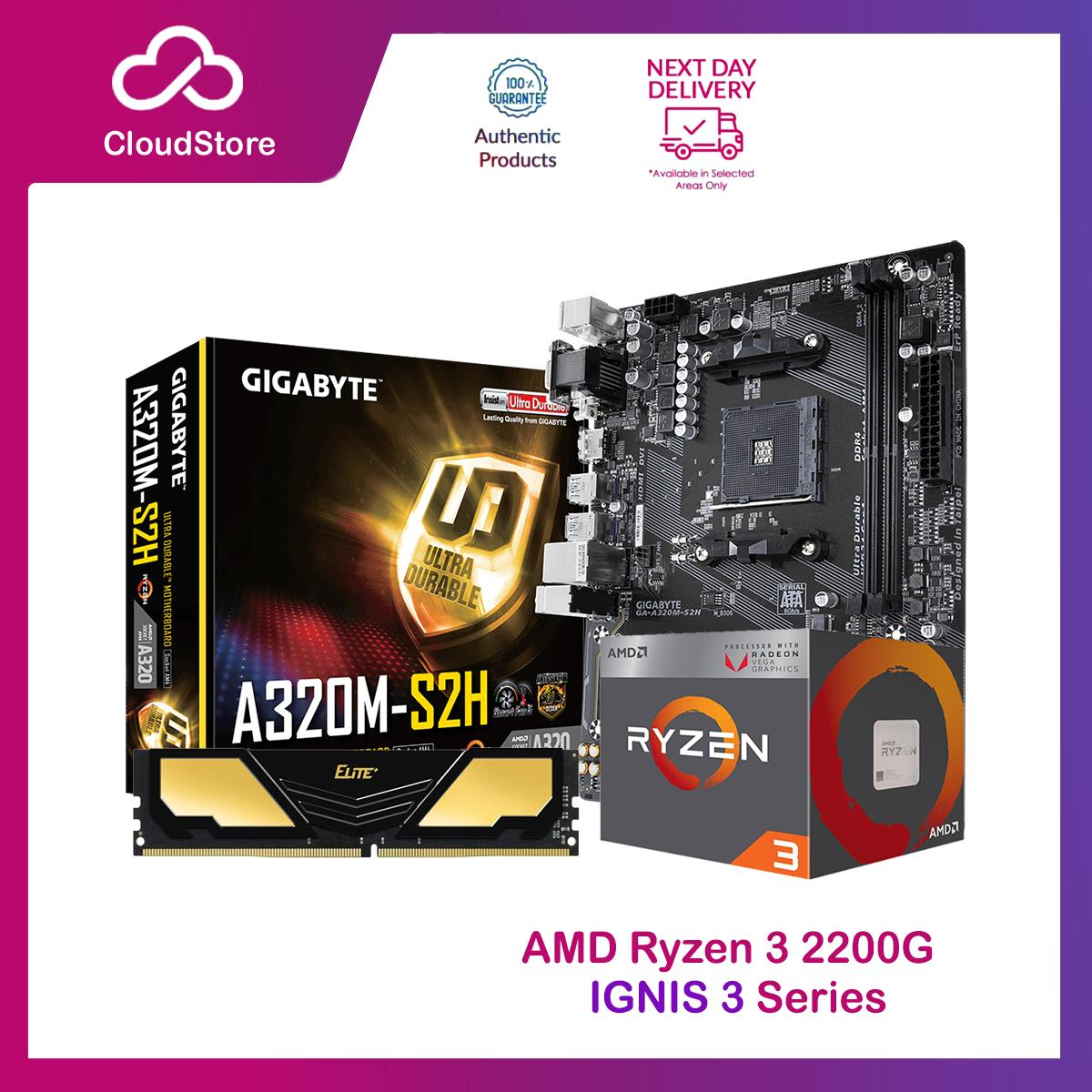 Amd Ryzen 3 2200G Processor Socket Am4 3 5ghz with Radeon Vega 8 Ryzen3 2nd  Gen APU, Best Seller for iCafe Gamers Graphic Artist with Built in Video