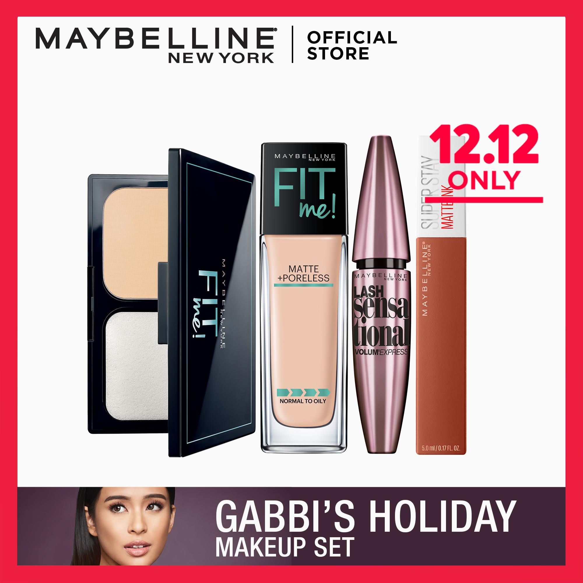 Gabbis Holiday Bundle: Fit Me Set + Amazonian + Lash Sensational by Maybelline Philippines
