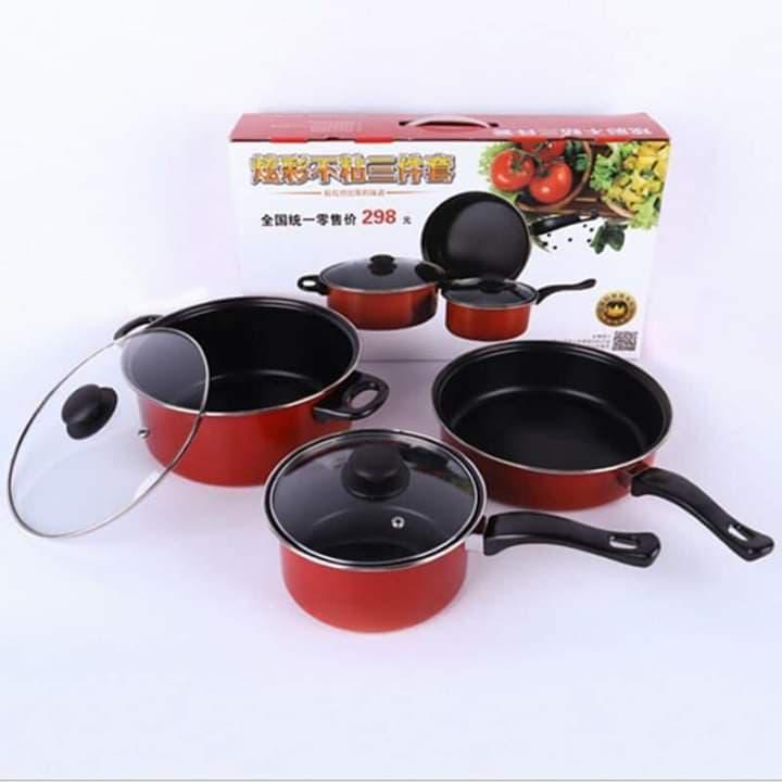 5pcs/set Of Non-Stick Pan Set Cookware Wok Smokeless Cookware Set By Xzycollection.