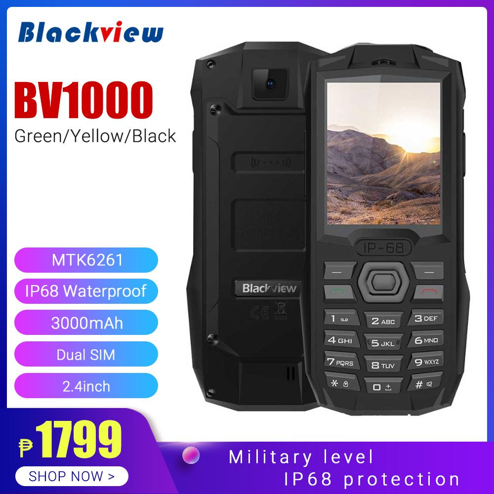 Blackview BV1000 IP68 Waterproof Shockproof Rugged Mobile Phone 2 4inch  3000mAh Dual SIM FM, Bluetooth, Network: 2G,Mini Cell Phone