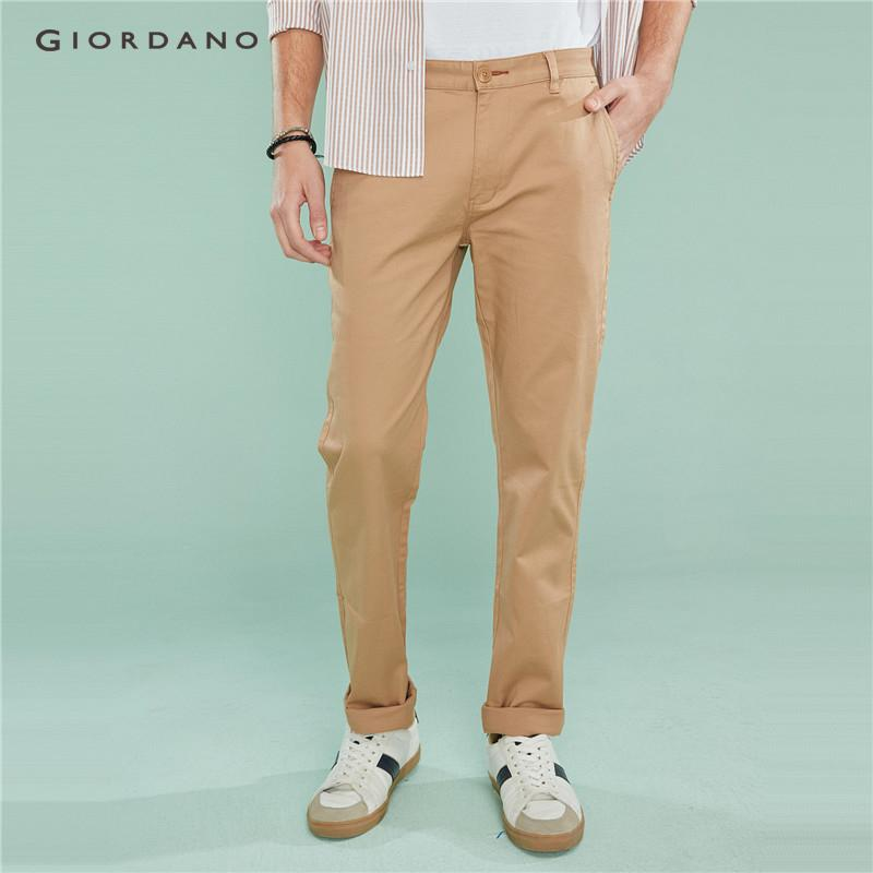 8dce39d34a2518 Giordano Men Pants Stretchy Low Rise Slim Tapered Pants For Men Ultra Soft  Waistband Casual Khakis