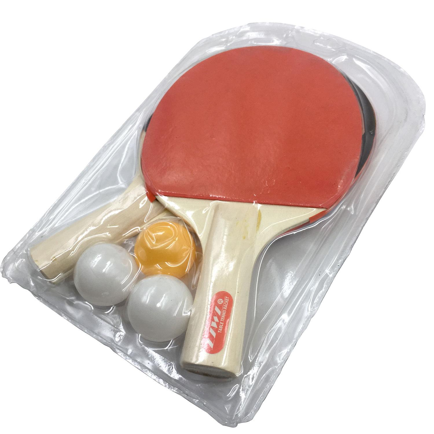 Beginner Table Tennis Racket with 3 balls - 71105