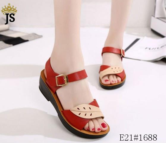 Sale Fashion Leaf Wedge Sandals For