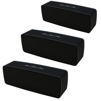 DA308 Portable Mini Bluetooth Speaker (Black) Set of 3
