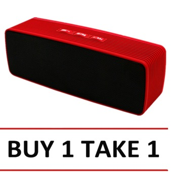 DA308 Portable Mini Bluetooth Speaker (Red) Buy 1 Tkae 1