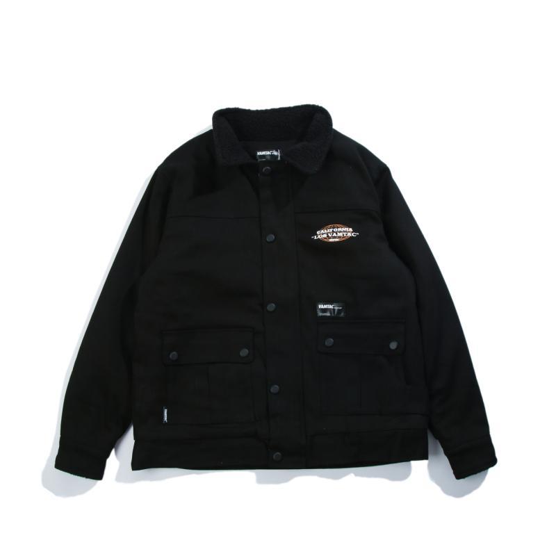 ec7aa227e23 American Street Winter New Style Loose Vintage Jacket INS Online Celebrity  Three-Color plus Velvet
