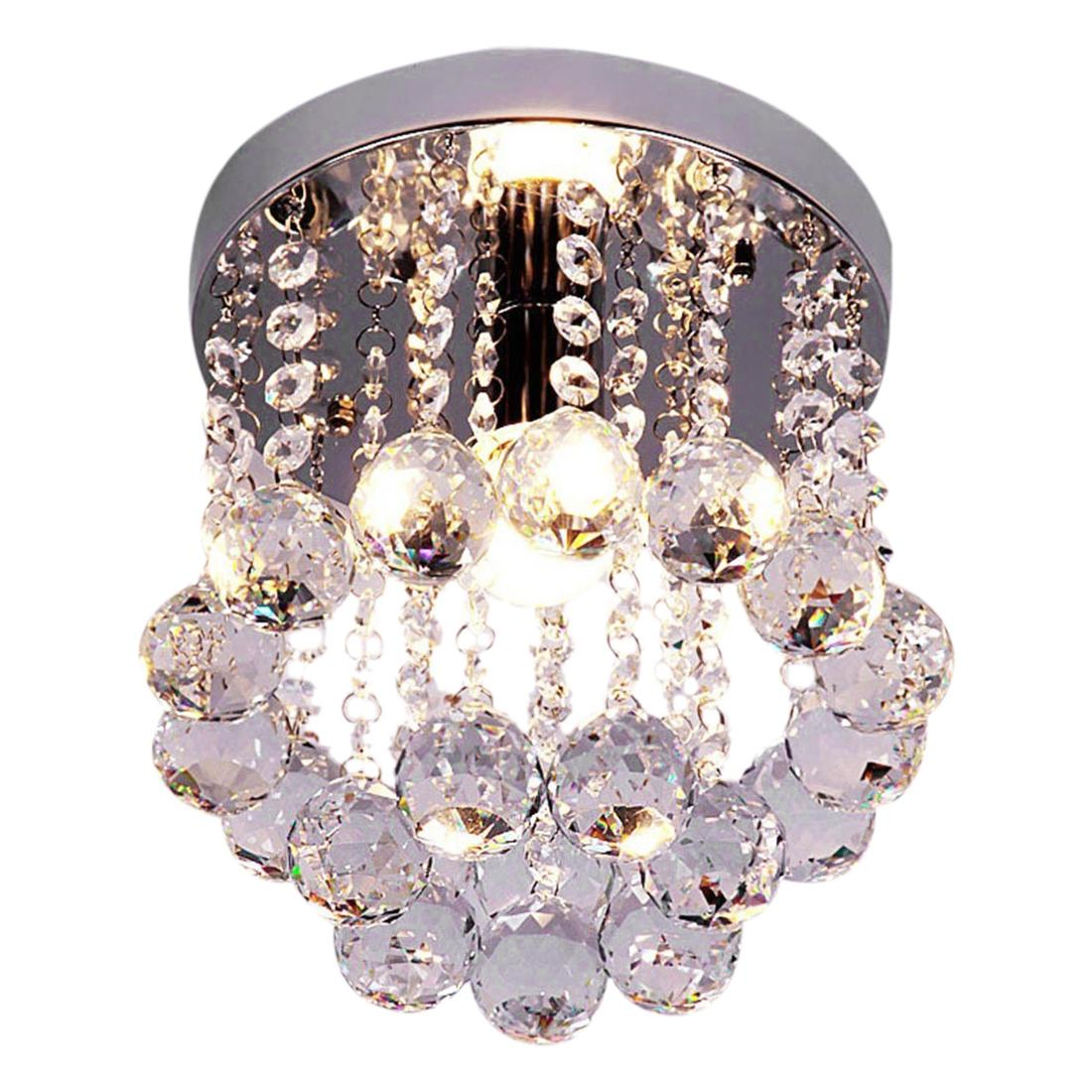 Retro Luxury Flush Mount Crystal Pendant Ceiling Light Chandelier Lighting HQ