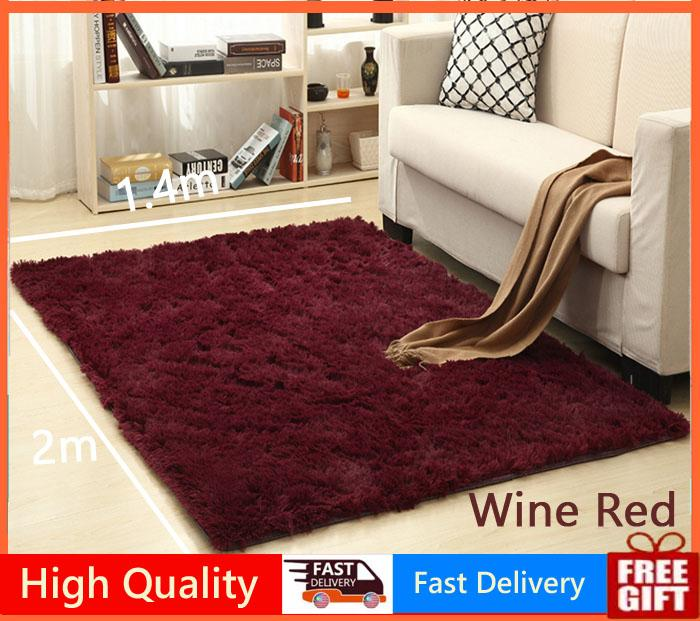 140X200cm Carpet Rugs Floor Mat/Cover Living Room Bedroom Yoga Mat Thickened Shaggy