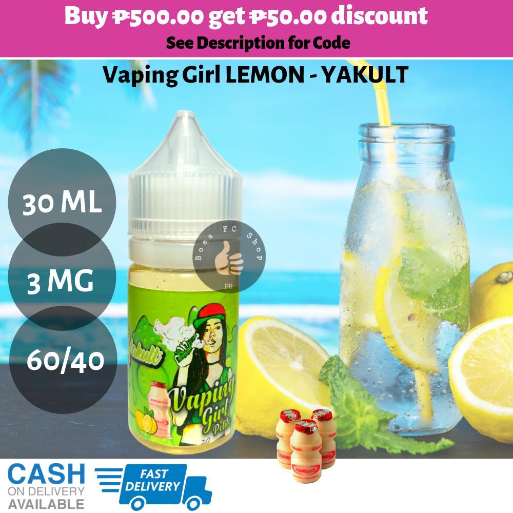 Vaping Girl Petite Flavors: Grapes-Yakult / Mango-Yakult / Lemon-Yakult /  Melon-Yakult / Straw-Yakult 30ml 3mg Vaping Girl vape juice ejuice e-juice