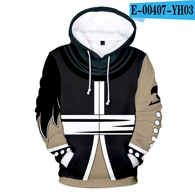 Fairy Tail Pullover Loose Womens Plus Size Hooded Pullover Sweatshirt Long Sleeve Jumper Casual Long Tops Unisex