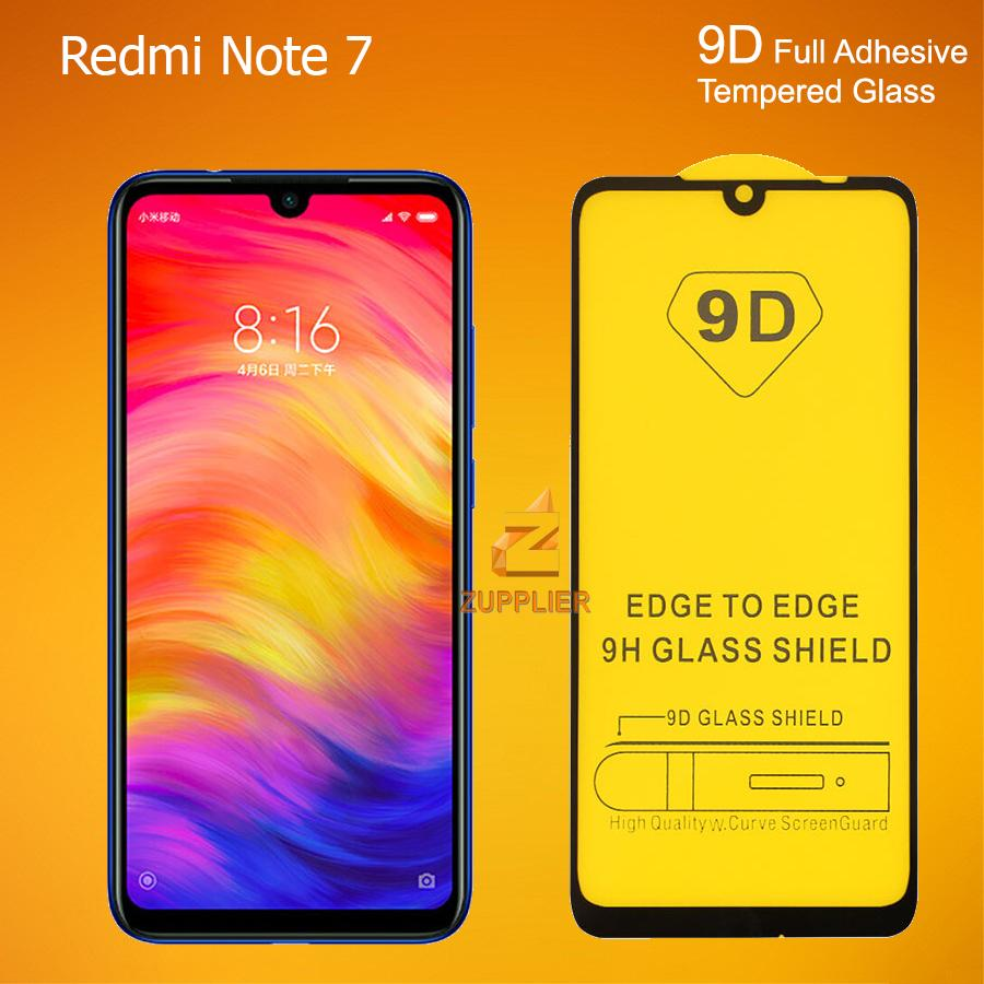 Xiaomi Redmi Note 7 5D / 9D Generation Full Cover Full Adhesive 9H Tempered  Glass (Black)
