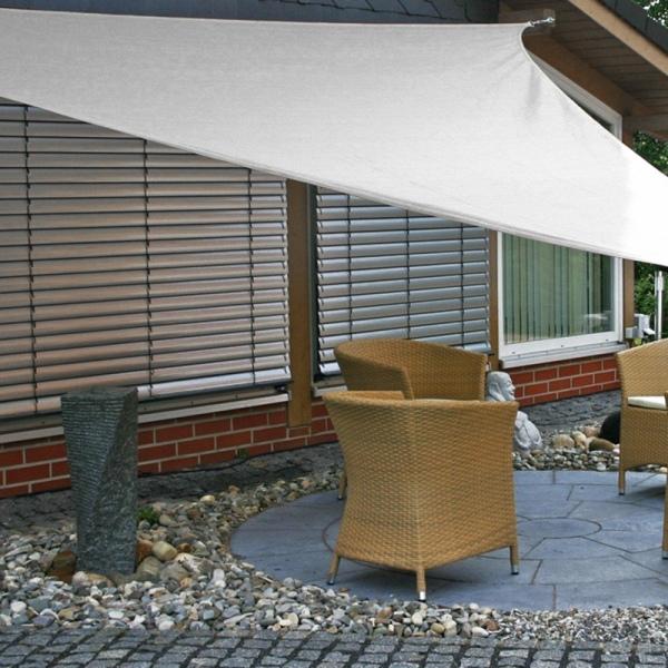 Bảng giá 1Pcs Sunshade Canopy Triangular Sun Shade Sail UV-Resistant Shade for Patio Outdoor Garden Patio Top Cover (White)