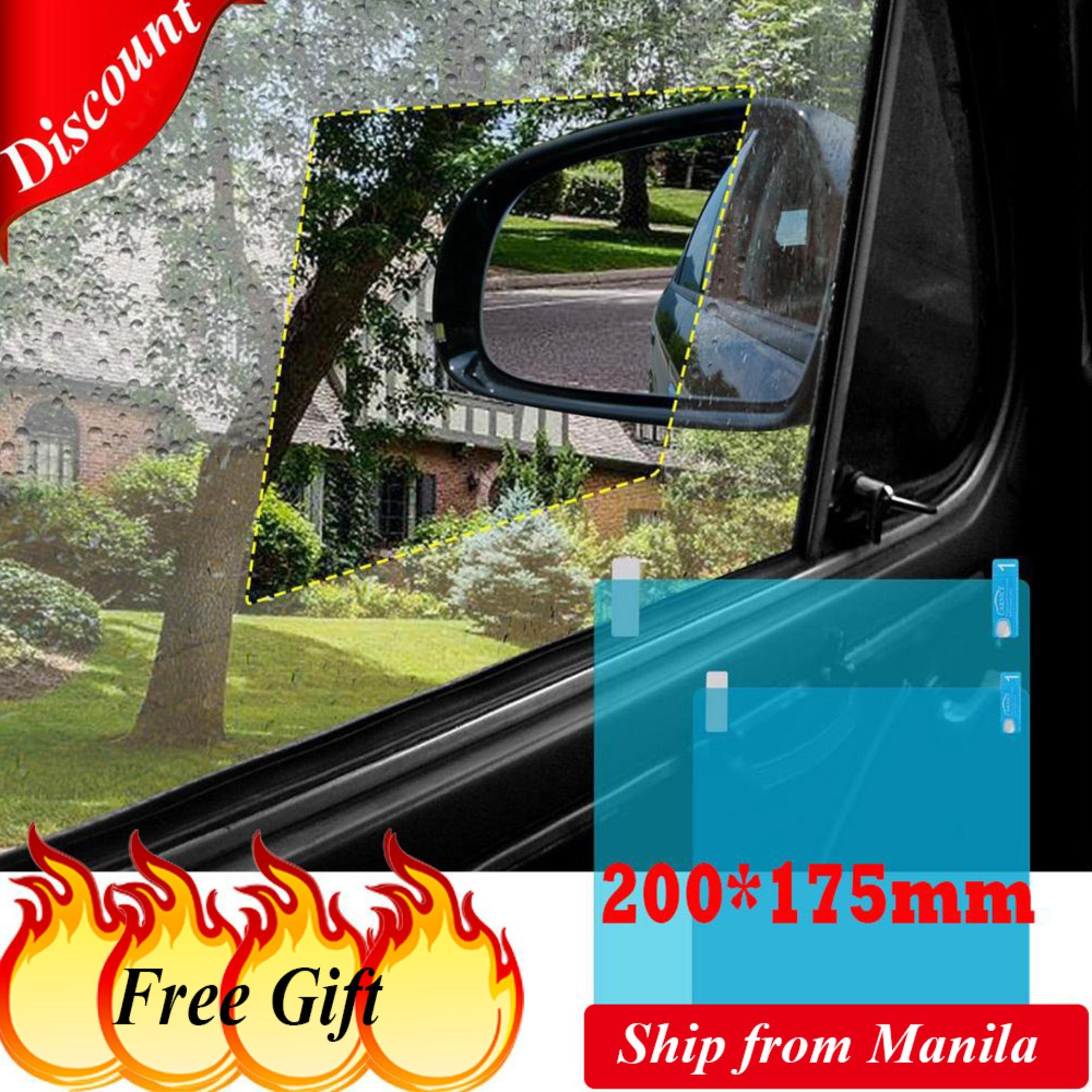 (200*175mm)2 Pieces/Set Car Side Window Protective Film Anti Fog Membrane  Anti-glare Waterproof Rainproof Auto Mirror Window Clear Film Car Sticker