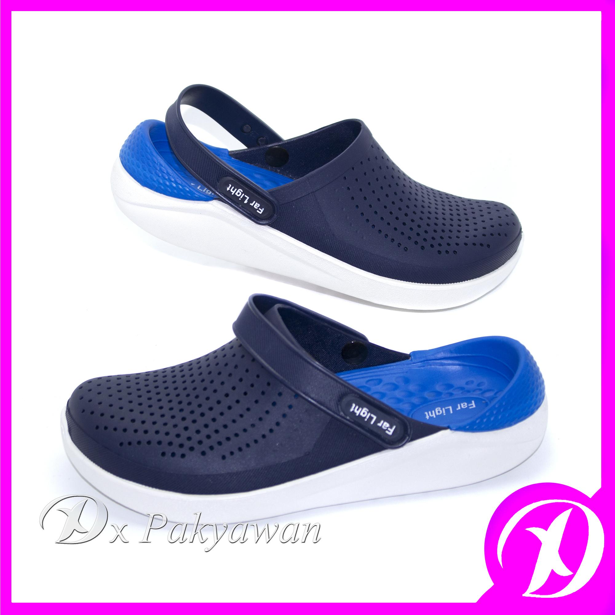 Dx Summer Sandals Men Casual Shoes Mules Clogs Croc Breathable Beach Slippers Male Water Hollow Jelly Shoes Kasut Lelaki Sandal By Dx Pakyawan.