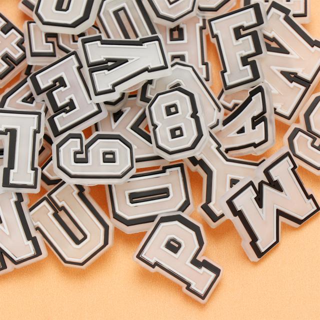 GTIOKWNRO35 37 Số Chữ Cái Bảng Chữ Cái Thời Trang Hạt Charm Trang Trí Giày Dạ Quang PVC Giày Phát Sáng Trong Bóng Tối, Trang Trí giá rẻ