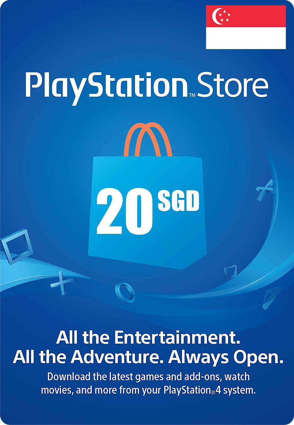 PSN Digital Card 20 SGD - PlayStation Network (SG)