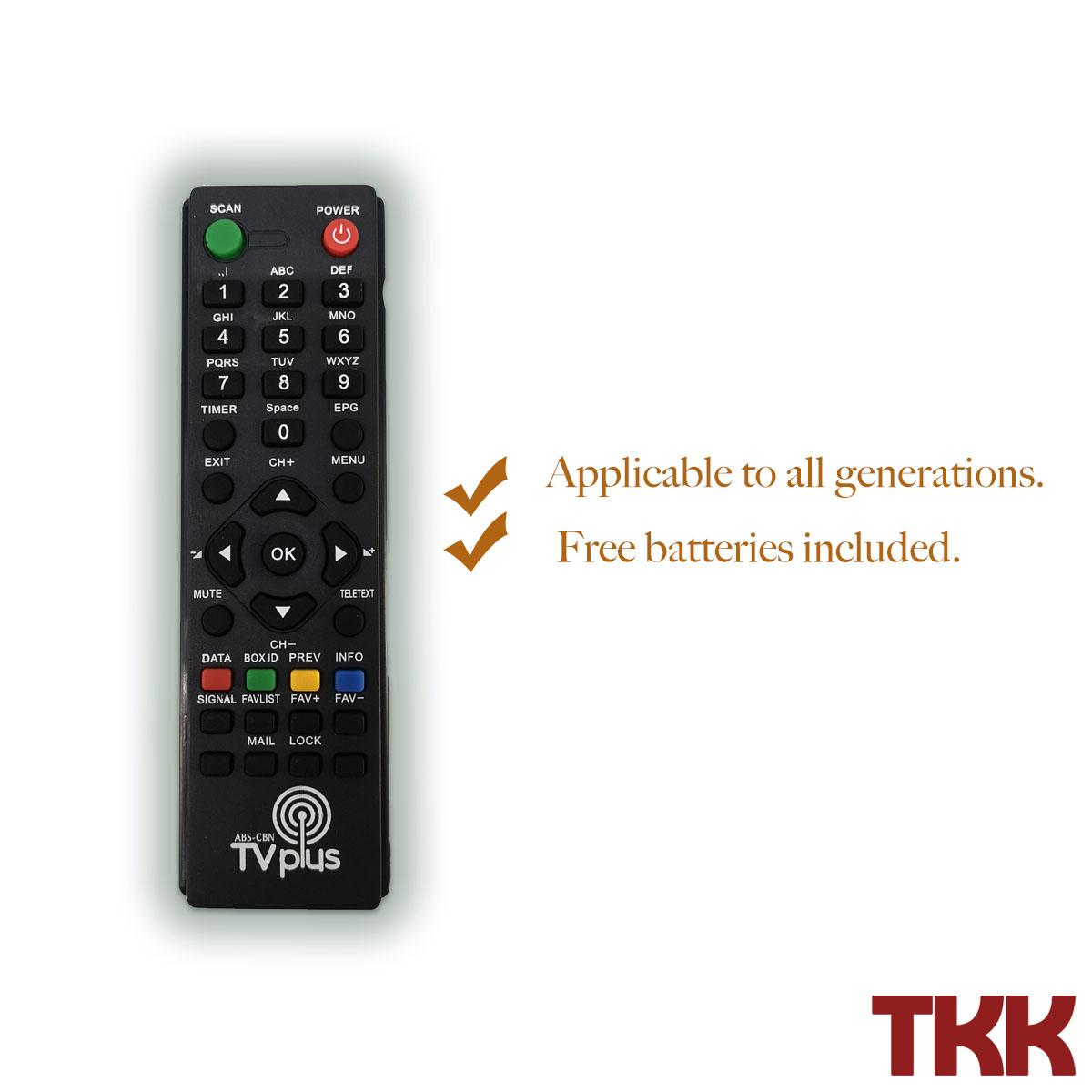 Abs Cbn Tv Plus Remote By Tkk Trading.