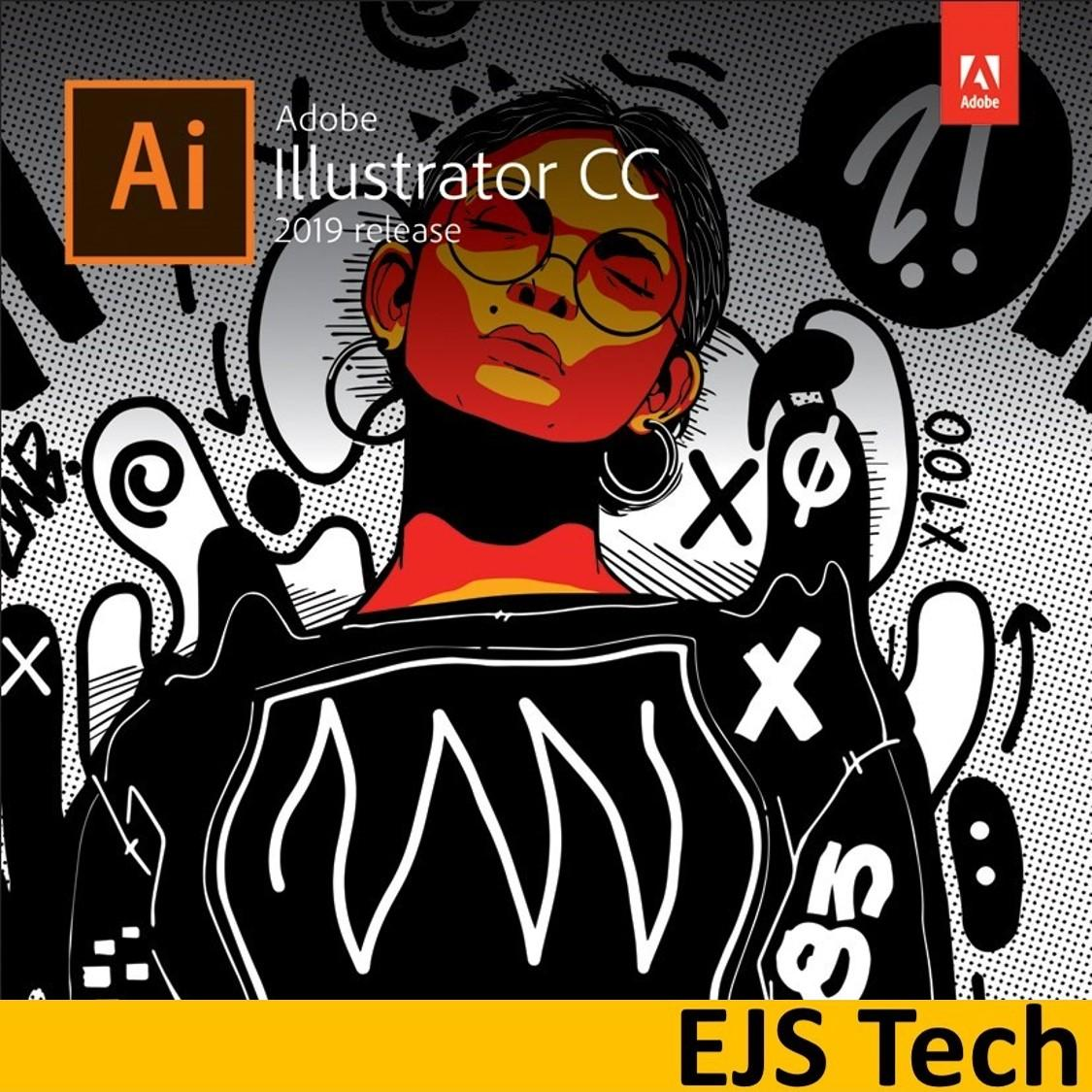 Genuine Adobe Illustrator CC 2019 (64-Bit Structure) Lifetime Digital  License